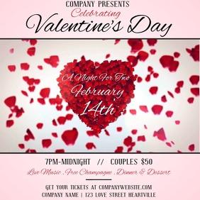 Valentine's day Social Media Template Vierkant (1:1)