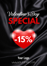 Valentine's Day Special Flyer poster Sale As A4 template