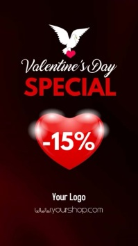Valentine's Day Special Story Heart Sale Ad Instagram 故事 template