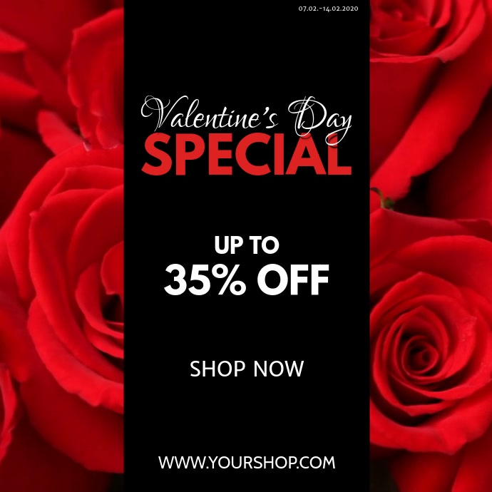 Valentine's Day Special Video roses Red Offer