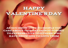 Valentine's Day Template Kartu Pos