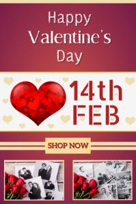 Valentine's Day Template Poster Design
