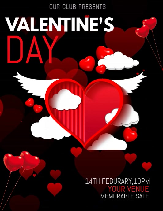 Valentine's day templates,event templates