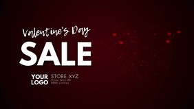 Valentine's Day Video Cover Header Heart Ad