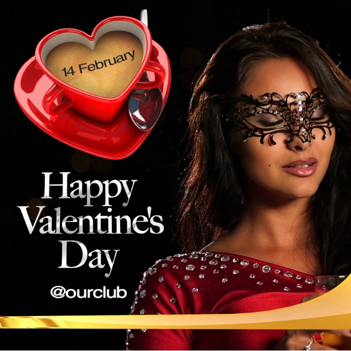 Valentine's Day Video Instagram 帖子 template