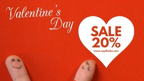 Valentine's Day Video Shop Template Sale Ad