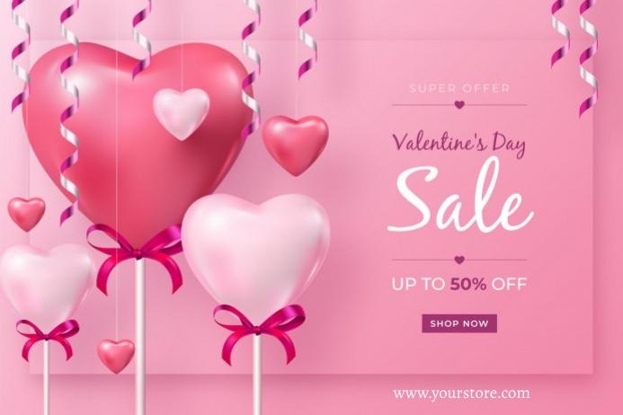 Valentine's Plakat template