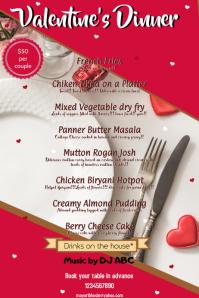 Valentine's Dinner Banner 4' × 6' template