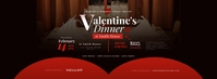 Valentine's Dinner Facebook Cover Photo Facebook-coverfoto template
