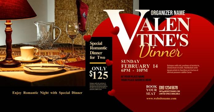 Valentine's Dinner Facebook Shared Image template
