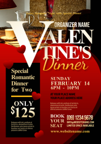 Valentine's Dinner Flyer A4 template