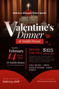 Valentine's Dinner Flyer Plakat template