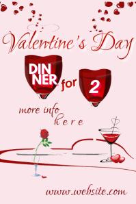 Valentine's Dinner for 2 Poster template