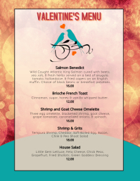 Valentine's Dinner restaurant menu specials