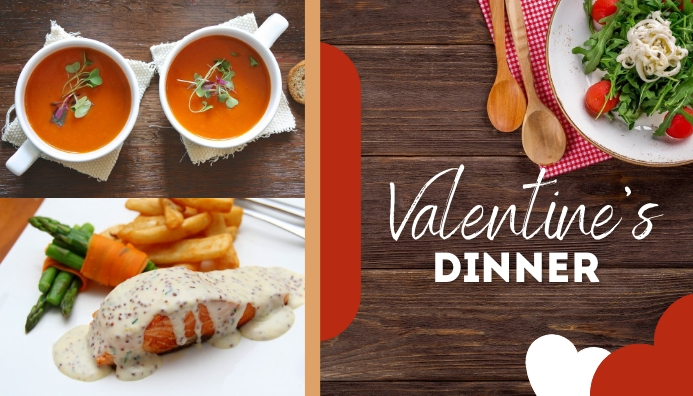 Valentine's Dinner Templates 博客标题