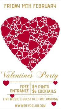 Valentine's DJ Club Party Event Template