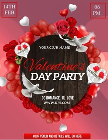Valentine's flyer,event flyer,party flyers