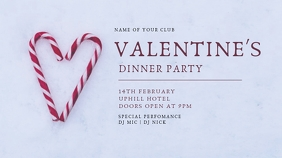 valentine's flyer Pantalla Digital (16:9) template