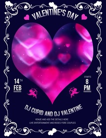 Valentine's flyers,event flyers,party flyers