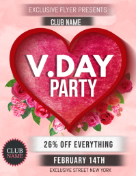 Valentine's flyers,event flyers,retail flyers