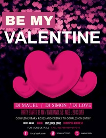 Valentine's flyers,romantic flyers