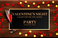 Valentine's flyers,anniversary Banner 4' × 6' template