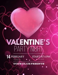 valentine's flyers Volante (Carta US) template