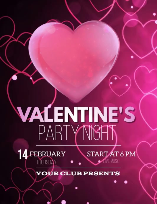 valentine's flyers Pamflet (Letter AS) template