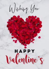 valentine's flyers A3 template