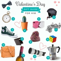 Valentine's Gift Guide for Him Instagram Post template