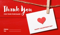 Valentine's Gift Tag Тег template