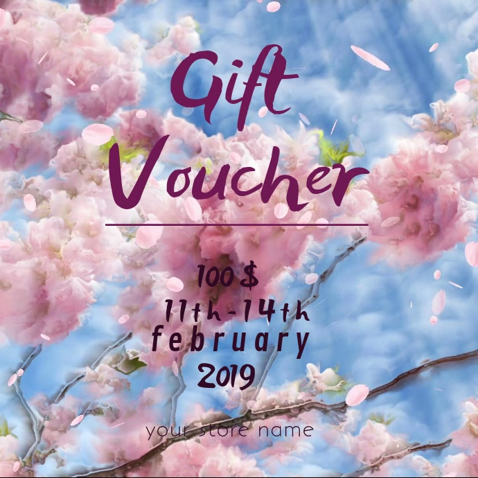 Mother's day gift voucher online card Carré (1:1) template
