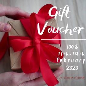 valentine's gift voucher online card Persegi (1:1) template