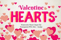 Valentine's Hearts 2021 Template Poster
