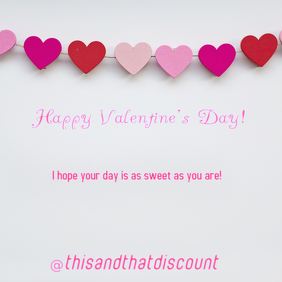 Valentine's Insta Note Instagram Post template