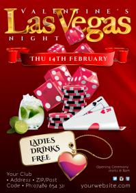 Valentine's Las Vegas Night Poster
