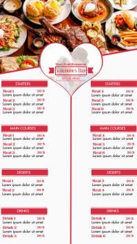 Valentine's Menu Digital Display (9:16) template