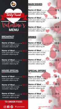 Valentine's Menu Digital na Display (9:16) template