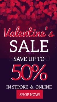 VALENTINE'S MONTH SALE Flyer Template Instagram Story