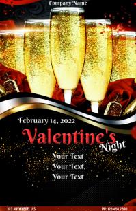 VALENTINE'S NIGHT Wide Setengah Halaman template