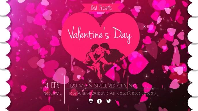 Valentine's Night Party Digital Display Video