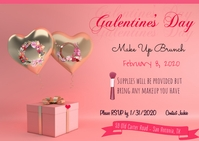 Valentine's Party Postcard template