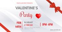Valentine's party รูปภาพที่แบ่งปันบน Facebook template