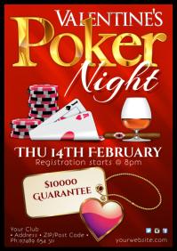 Valentine's Poker Night Poster