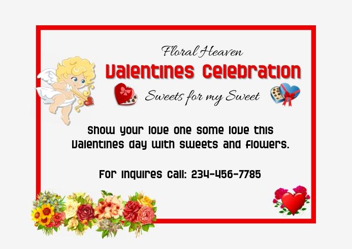 Valentine's Promo Postcard template