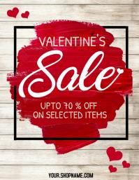 Valentine's retail flyer