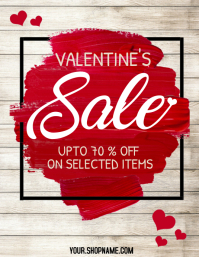 Valentine's retail flyer