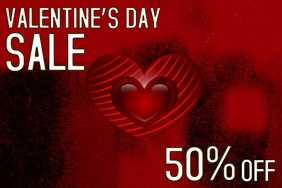 Valentine's retail flyers