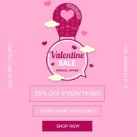 Valentine's Sale Instagram Post template