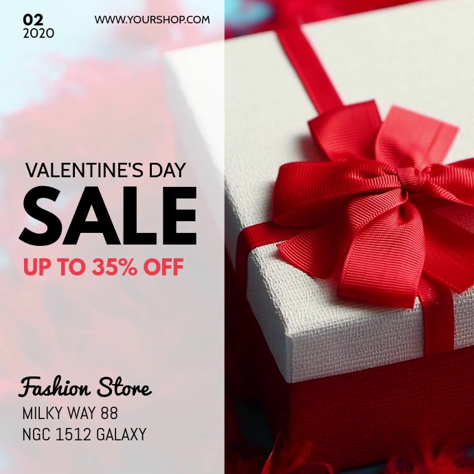 Valentine's Sale Discount Price Off Gift Ad
